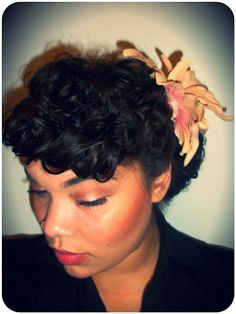Awe Inspiring 1000 Images About Curly Hair Pinup On Pinterest Victory Rolls Short Hairstyles Gunalazisus