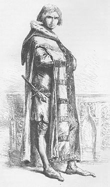 Etienne Marcel (vu en 1862)-Le 10 décembre 1356 le dauphin publie une ordonnance donnant cours à une nouvelle monnaie qui avantage les propriétaires fonciers (noblesse, clergé, patriciat urbain), cela provoque une levée de boucliers de la population parisienne qui voit ses loyers croître de 25 %. Etienne, lui, choisit le parti des compagnons et des bouquetiers contre la grande bourgeoisie et les spéculateurs: il devient maître de la rue.