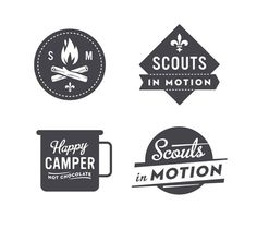 Really cool retro scouts themed logos!