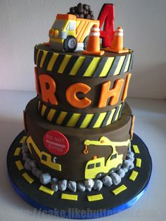 Construction Cake with Edible Truck | Yelp http://cake.likebutterent.com