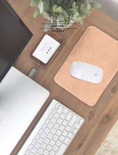 """Haz un mousepad de """"oro rosa"""" para tu oficina."""