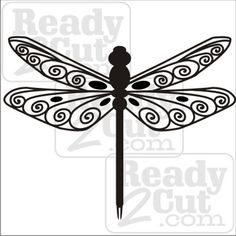 dragonfly silhouettes free | You are here: Home / Graphics / Animals / Dragonfly – Fancy