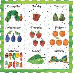 Páginas La oruga muy hambrienta para colorear (página 2)