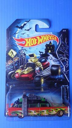 2014 Hot Wheels Ghostbusters Ecto-1 Halloween Pr5 Rare  !!! #HotWheels #ecto1