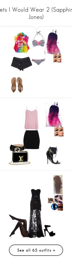 """""""Sets I Would Wear 2 (Sapphire Jones)"""" by celestial-ringmaster ❤ liked on Polyvore featuring Dimepiece, Billabong, Melissa Odabash, Topshop, Dsquared2, Dorothy Perkins, Gucci, Nly Shoes, Fogal and Zuhair Murad"""