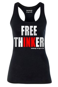 Women's Free Thinker Tank Top Rebel Circus, alternative, punk, goth, rock, gothic, rockabilly, psychobilly, alternative, alt, retro, grunge