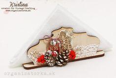 Vianočné stolovanie - stojan na servítky / Christmas napkin holder