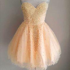 Lovely Short Tulle Homecoming Dresses Sweetheart Neck Beaded Party Dresses Mini Women Dresses Tailor Made