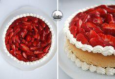 Cheesecake al caprino e fragole