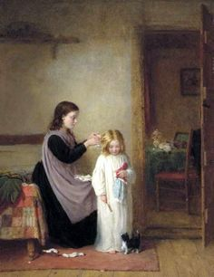 Frederick Daniel Hardy (1826 – 1911, English) - Ready for bed