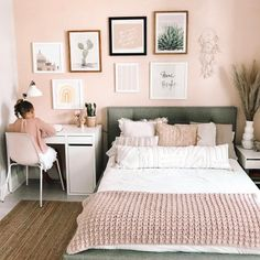 At Under The Roof Decorating, we design innovative products to help you Create the home you love™ Small Room Design Bedroom, Room Ideas Bedroom, Home Decor Bedroom, Cozy Room, Girl Room, Room Inspiration, Light Pink Bedrooms, Future, Decoration