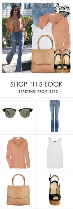 """665. Celebrity Style: Zoe Saldana"" by amber-nicki-rose ❤ liked on Polyvore featuring Oris, Ray-Ban, Goldsign, Carven, Joseph, Givenchy and Christian Louboutin"