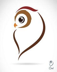 Vector image of an owl vector art illustration