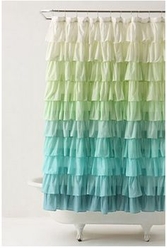 make your own shower curtains using sheets! I want to make this.
