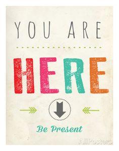 You Are Here Pôsters por Rebecca Peragine na AllPosters.com.br