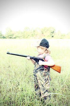 Trashy Betty #hunting #camo #childrens photography