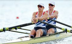 "Katherine Grainger and Anna Watkins win the women's double sculls, and said winning gold was ""every bit as wonderful"" as she had imagined."