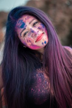 Photography to the Nxt Level Festival Photography, Paint Photography, Photography Poses Women, Girl Photography Poses, Holi Colors, Holi Festival Of Colours, Holi Pictures, Holi Images, Holi Girls