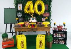 Decoração Festa Boteco Barata: Kit, Painel, o que Servir - Artesanato Passo a Passo! Cheap Party Decorations, Party Centerpieces, 50th Birthday Party, Happy Birthday, How To Make Beer, Party Items, Shower Party, Data, Josi
