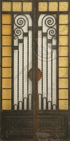 Art Deco Glass Door Texture