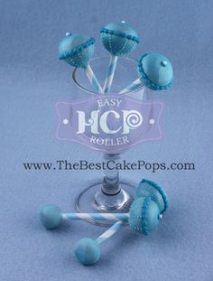 Favorite Cake Pops ~By HCP Easy Roller ~Baby Shower Rattle Cake Pops! Take a look at how we roll;)! ...Rattles inspired by Cake Pop Stand By KC Bakes