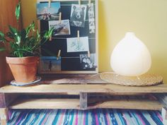 Table & Memo Frame  #diy #table #memoframe #palets #wood