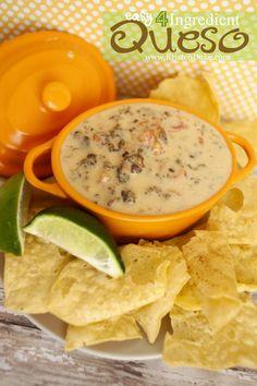 Easy 4 Ingredient Queso www.KristenDuke.com