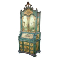 This secretary desk is very Chinoiserie. (French word for Chinese-eque.) It would work really well in a modern room inspired by ancient Chinese art.