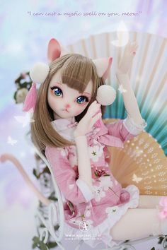 Lady Cat Hairband 315 Dollmore  Doll Accessory headband  MSD /& SD