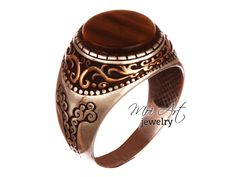 EXCLUSIVE !! Handmade Men's Ring with Tiger Stone 925k Sterling Silver All Sizes   Jewelry & Watches, Men's Jewelry, Rings   eBay!