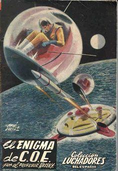 Luchadores del Espacio (Space Fighters) covers (Spain 1953-63). Spanish sci-fi pocket books collection. http://www.tercerafundacion.net/biblioteca/ver/coleccion/476?start=41&step=20