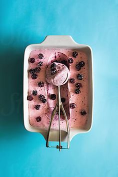 Food: homemade blackberry ice cream with scoop by Pixel Stories - Stocksy United Blackberry Ice Cream, Food Photography, Royalty Free Stock Photos, Homemade, Photo And Video, Sweet, Creative, Icecream, Mood
