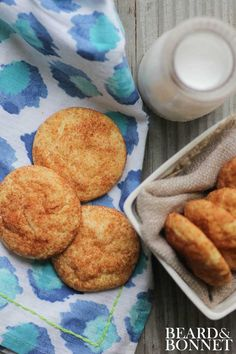 Gluten-free Snickerdoodle. BEST EVER! // Beard and Bonnet