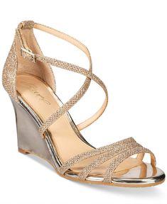 Jewel Badgley Mischka Hunt Evening Wedge Sandals Women's Shoes