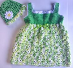 I'm selling Baby's Green Sundress with Matching Hat - $35.00 #onselz