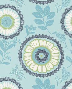 Like the wallpaper pattern - 'Lacework' in ocean.