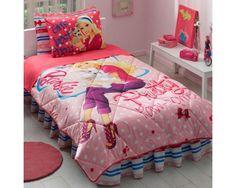 Barbie Pretty 6Pcs Cotton Single Twin Size Sleep Set Bed In a Bag