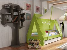 Pull-out cot with tent roof- Ausziehbares Kinderbett mit Zeltdach Pull-out cot with tent roof - Diy Furniture Plans, Retro Furniture, Cheap Furniture, Kids Furniture, Furniture Market, Furniture Removal, Urban Furniture, Furniture Chairs, Princess Carriage Bed