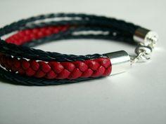 Hand made leather bracelet
