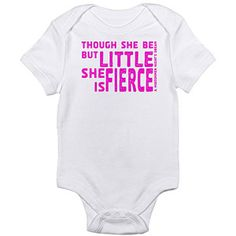 Cafepress Fierce Newborn Baby Bodysuit