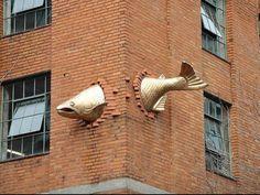 Portland street art...over a restaurant on Park & Salmon, downtown