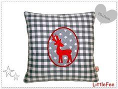 Kissen  ♥ Kuschelkissen♥  WeihnachtsElch von LittleFee auf DaWanda.com