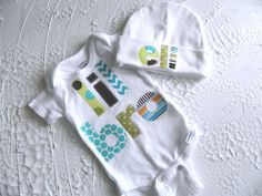 Hey, I found this really awesome Etsy listing at https://www.etsy.com/listing/187415001/baby-boy-onesie-and-beanie-newborn