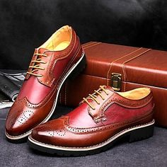 Men's Shoes Comfort Low Heel Leahter Oxfords with Lace-up More Colors Available - USD $ 34.99