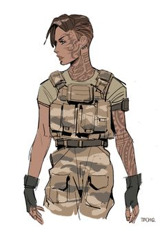 41 ideas concept art girl post apocalyptic for 2019 Female Character Design, Character Design References, Character Drawing, Character Design Inspiration, Character Concept, Concept Art, Character Illustration, Anime Military, Military Art