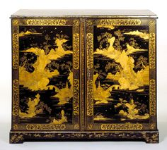 Chest Unknown maker About Guangzhou, China Lacquered wood Museum no. to V & A museum Oriental Furniture, Antique Furniture, Custom Furniture, Chinoiserie, Decoration, Art Decor, Antique Curio Cabinet, Asian Decor, Victoria And Albert Museum