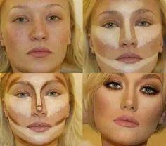 Contouring for fair skin!!                                                                                                                                                                                 More