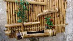 Resultado de imagem para trabalhos feitos com bambu
