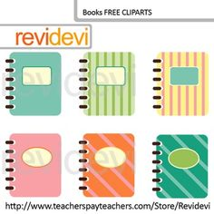 Free Books Clip Art. Set of 6 in soft pastel colors. Seller teacher tools for creating TpT materials, specially for making covers. These binder book cliparts are just great!Don't forget to rate! Your rating is highly appreciated.You might also like this owl clip art setLink-Owl with glasses clip art, set of 4 (free clip art)Great resource for any school and classroom projects such as for creating bulletin board, printable, learning worksheet, classroom decor, craft materials, activities and…