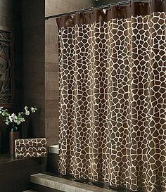 """Bay Linens """"Safari"""" Giraffe Shower Curtain   Dillards.com"""